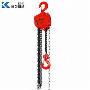 China Vital Type Manual Chain Pulley Block 1t
