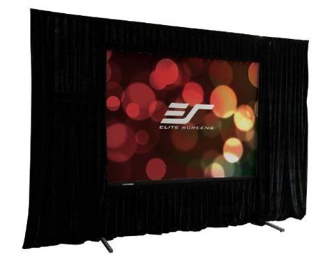 elite screens qhd   portable projection screen