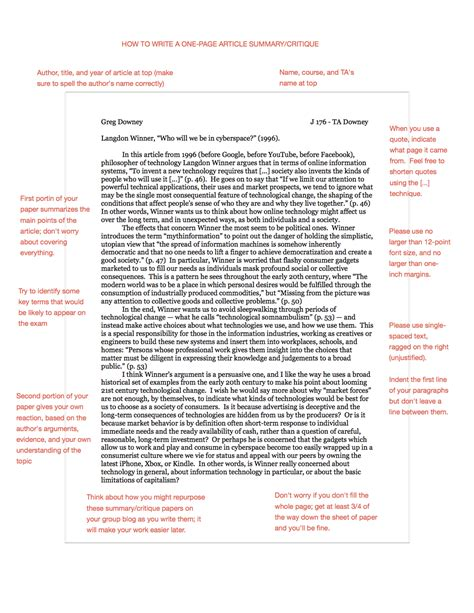 Good And Poor Summarizing An Article Example Paraphrase