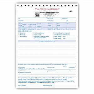 spa pool business invoice forms work order designsnprint With pool service invoice template