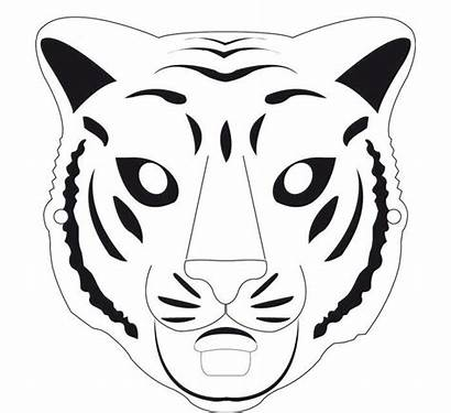 Tiger Mask Template Animal Coloring Templates Butterfly
