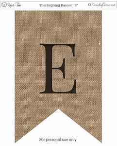 rustic burlap banner letters knick of time With burlap banner letters