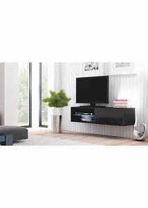 Tv 120 Cm : meuble tv suspendu 120 cm noir ~ Teatrodelosmanantiales.com Idées de Décoration