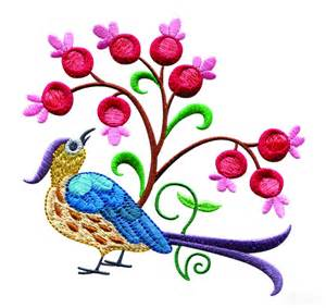 embroidery designs a birds paradise jf304 embroidery design