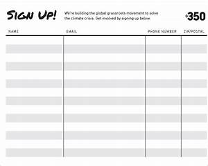 sign up sheets 58 free word excel pdf documents With sign templates free downloads