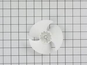 Wr60x10208 Ge Refrigerator Evaporator Fan Motor Blade