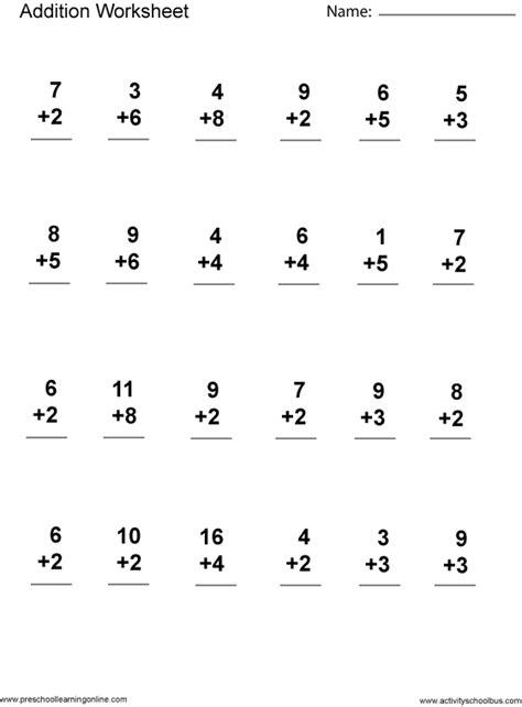 First Grade Math Worksheetsfirst Grade Math Printables