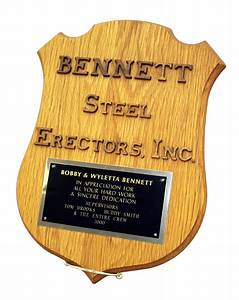Wooden letter shield plaque award place for Letter plaques