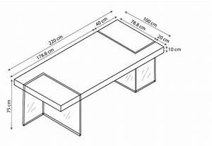 Table Rectangulaire Avec Pied En Verre Crystalline