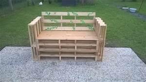 Fabriquer Un Banc De Jardin Original : fabriquer un banc en palettes youtube ~ Melissatoandfro.com Idées de Décoration