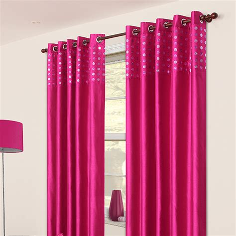 glam fuchsia eyelet curtains harry corry limited