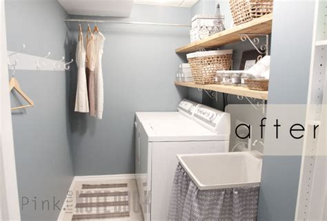 A Quick & Cheap Laundry Room Refresh  Pink Little