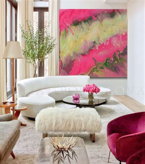 Explore trending designs from independent artists. 45inch Pink and Gold Print Pink Abstract Art Home Decor | Pink abstract art, Gold wall art ...