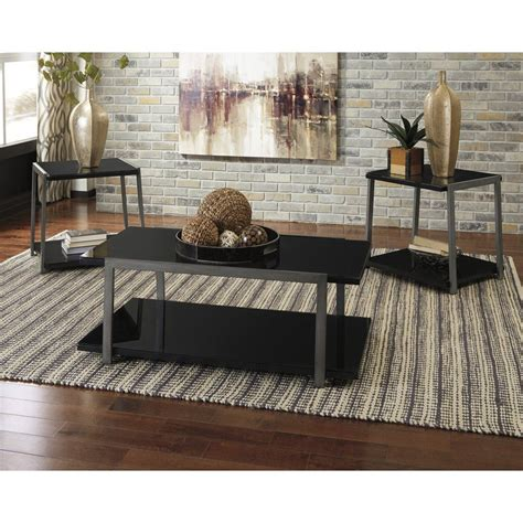 The best coffee table sets and end tables complete any living room. Signature Design by Ashley Rollynx 3 Piece Occasional ...