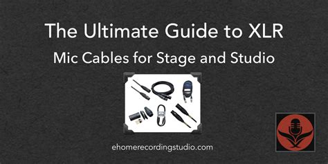 xlr microphone cables   guide  home recording