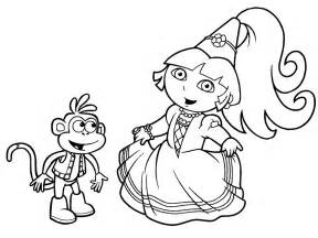 Dora Princess Coloring Pages Printable