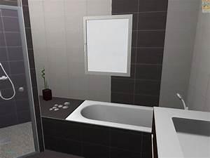 stunning peinture carrelage noir contemporary seiunkel With carrelage salle de bain noir