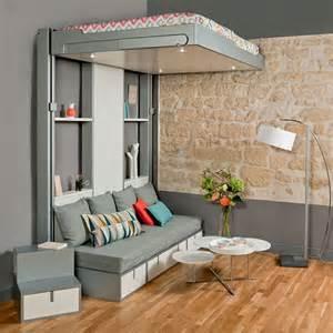 canape 120 cm convertible lits escamotables et lits mezzanines meubles gain de
