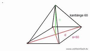 Quadratische Pyramide A Berechnen : eine pyramide hat eine quadratische grundfl che h he ausrechnen mathelounge ~ Themetempest.com Abrechnung