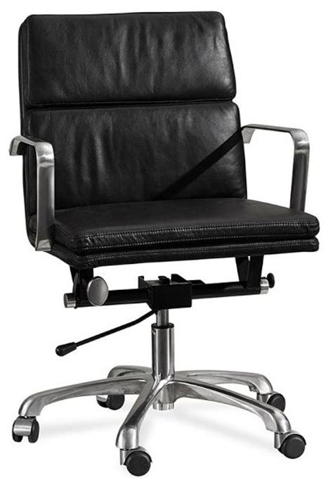 Swivel Leather Chair Office Portfolio Pertaining To by Nash Leather Swivel Desk Chair Black Modern Office