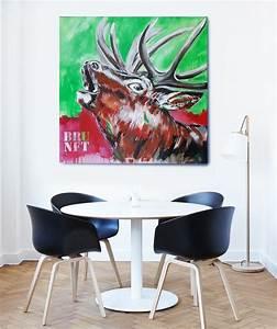 Gemälde Hirsch Modern : sr brunft 6 detail4 abstrakte bilder original gem lde malerei kunst online kaufen ~ Orissabook.com Haus und Dekorationen