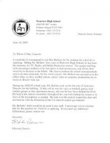 Principal Recommendation Letter Sample