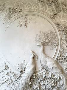 Interior bas relief sculptures of peacocks and lush for Interior bas relief sculptures by goga tandashvili