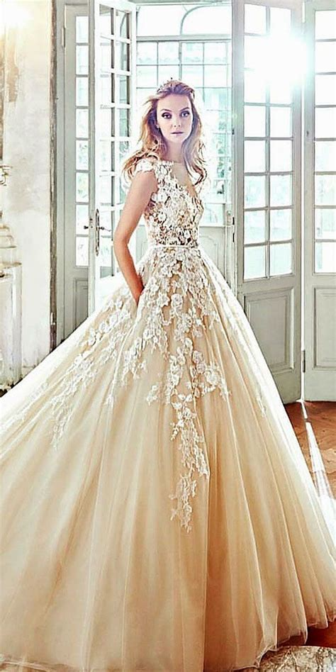 gold wedding dresses ideas  pinterest