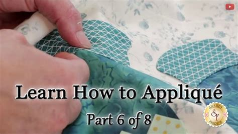 how to sew applique learn how to appliqu 233 with shabby fabrics part 6