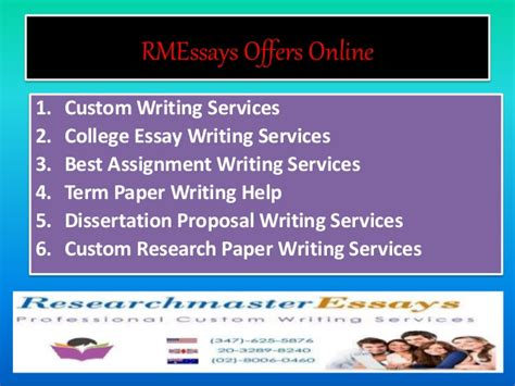 Research Master Essays Offers Academic Custom Writing