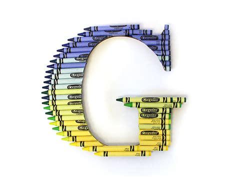 ombre crayon letter diy