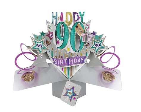 Birthday Pop Up Greeting Card happy 90th birthday pop up greeting card cards kates