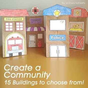 community helpers activity craft  woworksheets tpt