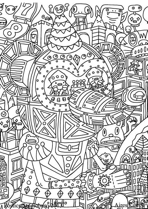 Coloring Doodle by Doodle Doodling 10 Doodle Doodling