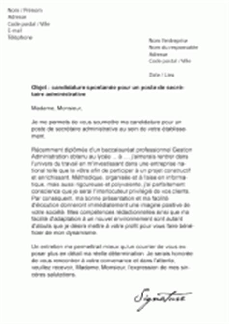 lettre de motivation administration lettre motivation pour