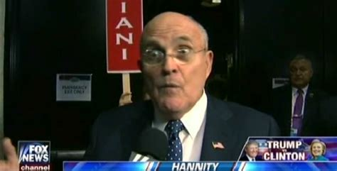 Image result for RUDY GULIANNI HANNITY CRZY IMAGES