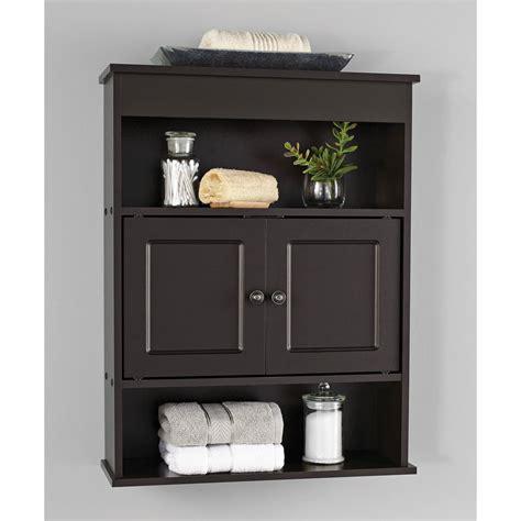 Chapter Bathroom Wall Cabinet Storage Shelf Espresso Ebay