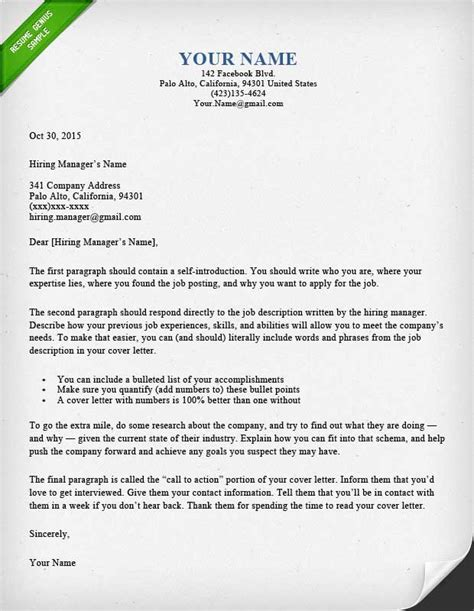 How To Write A Cover Letter For A Story by 40 Battle Tested Cover Letter Templates For Ms Word