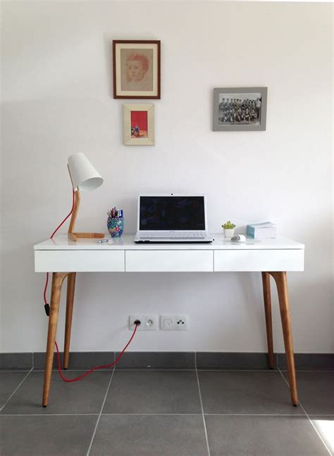 bureau bois et blanc retrouvez la console bureau design natura bois blanc sur