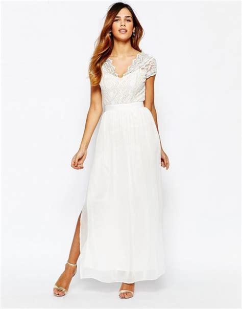 asos suknia ślubna ślub maxi biała z koronką w suknie i sukienki szafa pl