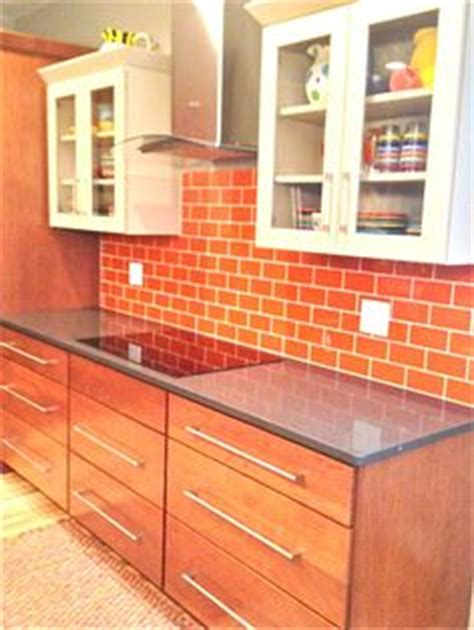 pictures of tile floors in kitchens crystile 1 x 3 glass subway series c13 2 orange burst 9136
