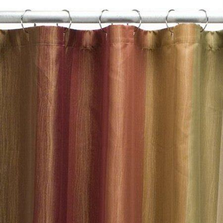rust shower curtain threshold earth tone multistripe fabric shower curtain