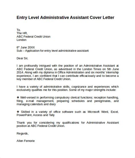 entry level cover letter templates samples examples