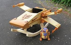 Man Builds a Wooden 'Star Wars' Ride-On Rocker Toy That