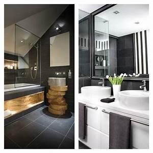 Déco Salle De Bains : salle de bain ardoise naturelle et chic ~ Melissatoandfro.com Idées de Décoration