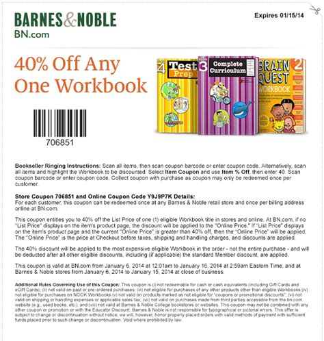 barnes and nobles code printable coupons barnes and noble coupons