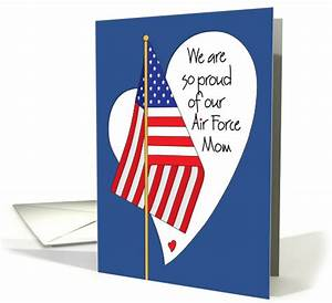 Mother's Day for Air Force Mom, American Flag and Heart ...
