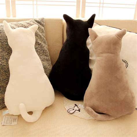 stuffing for sofa seats super cute soft plush back shadow cat seat sofa pillow