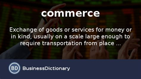 commerce definition  meaning