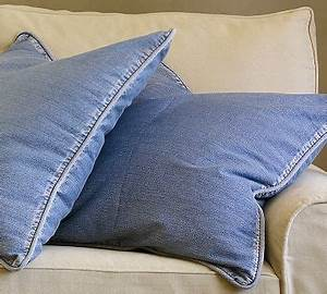 25 best images about denim ideas on pinterest indigo for Denim pillows pottery barn
